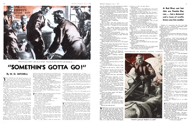 "Article Preview: ""SOMETHIN'S GOTTA GO!"", July 1945 