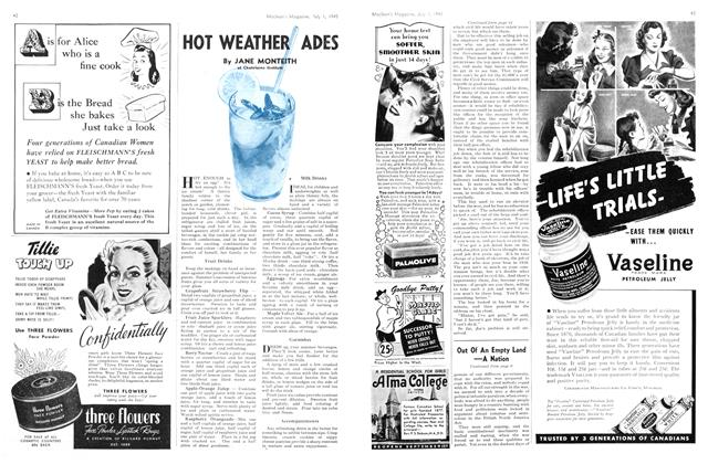 Article Preview: HOT WEATHER ADES, July 1945 | Maclean's