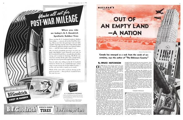 Article Preview: OUT OF AN EMPTY LAND A NATION, July 1945 | Maclean's