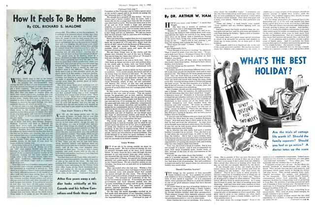 Article Preview: WHAT'S THE BEST HOLIDAY?, July 1945 | Maclean's