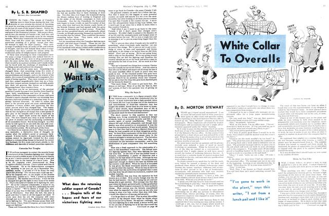 Article Preview: White Collar To Overalls, July 1945 | Maclean's