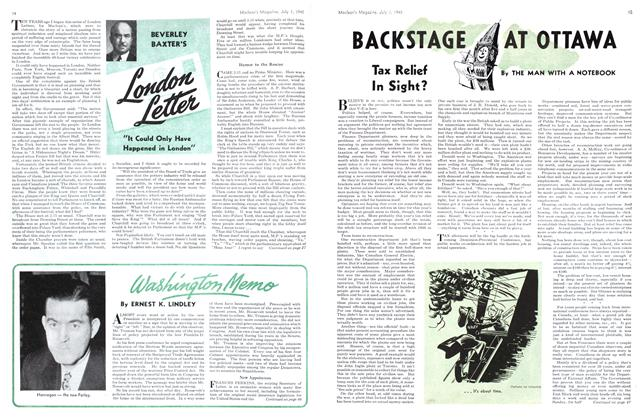Article Preview: BACKSTAGE AT OTTAWA, July 1945 | Maclean's