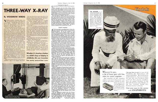 Article Preview: THREE-WAY X-RAY, July 1945 | Maclean's