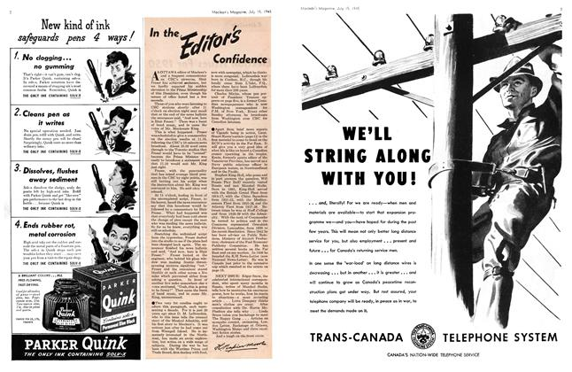Article Preview: In the Editor's Confidence, July 1945 | Maclean's
