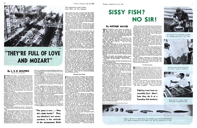 Article Preview: SISSY FISH? NO SIR!, July 1945 | Maclean's