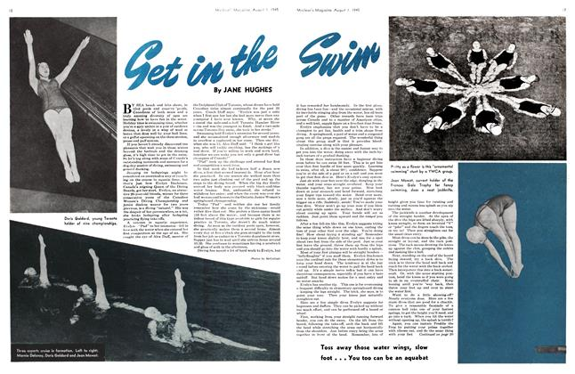 Article Preview: Get in the Swim, August 1945 | Maclean's
