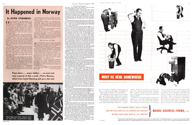 Article Preview: It Happened in Norway, August 1945 | Maclean's