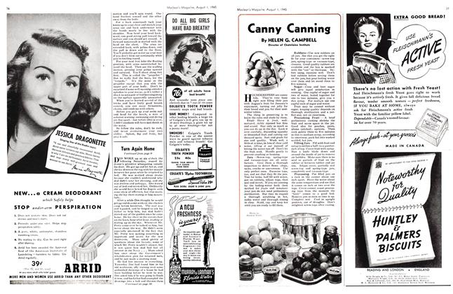 Article Preview: Canny Canning, August 1945 | Maclean's