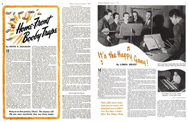 Article Preview: It's the Happy Gang!, August 1945 | Maclean's
