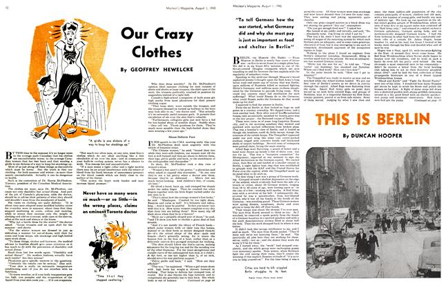 Article Preview: Our Crazy Clothes, August 1945 | Maclean's