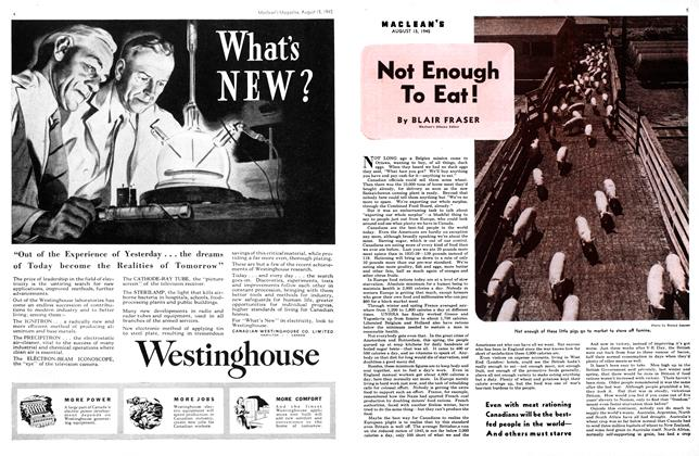 Article Preview: Not Enough To Eat!, August 1945 | Maclean's