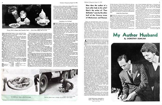Article Preview: My Author Husband, August 1945 | Maclean's