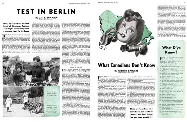 Article Preview: What Canadians Don't Know, August 1945 | Maclean's
