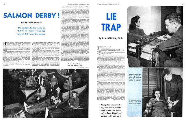 Article Preview: SALMON DERBY!, SEPT. 1, 1945 1945 | Maclean's