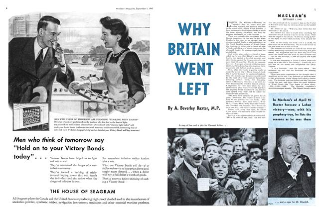Article Preview: WHY BRITAIN WENT LEFT, SEPT. 1, 1945 1945 | Maclean's
