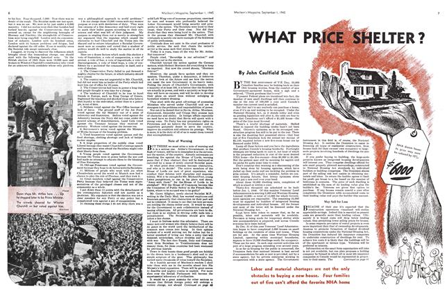 Article Preview: WHAT PRICE SHELTER?, SEPT. 1, 1945 1945 | Maclean's