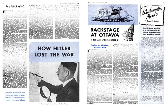 Article Preview: HOW HITLER LOST THE WAR, SEPT. 1, 1945 1945 | Maclean's