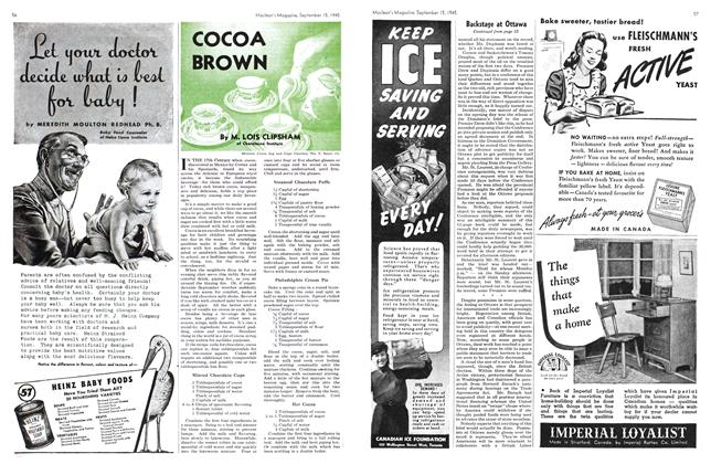 Article Preview: COCOA BROWN, Sept. 15, 1945 1945 | Maclean's