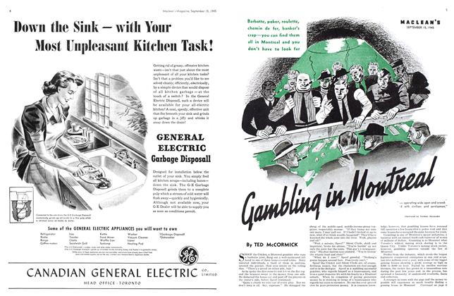 Article Preview: Gambling in Montreal, Sept. 15, 1945 1945 | Maclean's