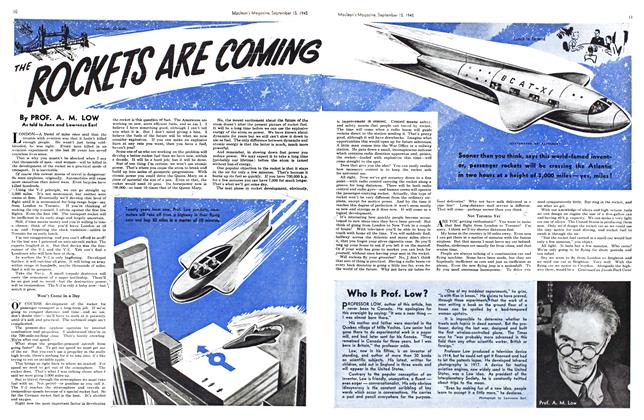 Article Preview: THE ROCKETS ARE COMING, Sept. 15, 1945 1945 | Maclean's