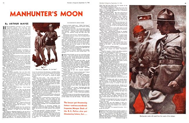 Article Preview: MANHUNTER'S MOON, Sept. 15, 1945 1945 | Maclean's