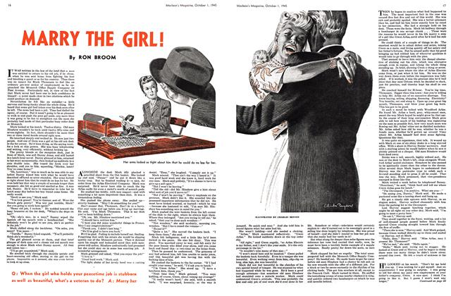 Article Preview: MARRY THE GIRL!, October 1945 | Maclean's