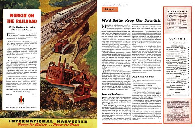 Article Preview: We'd Better Keep Our Scientists, October 1945 | Maclean's