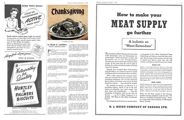 Article Preview: Thanks giving, October 1945 | Maclean's