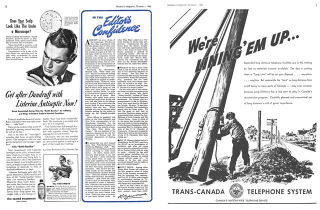 Article Preview: IN THE Editor's Confifence, October 1945 | Maclean's