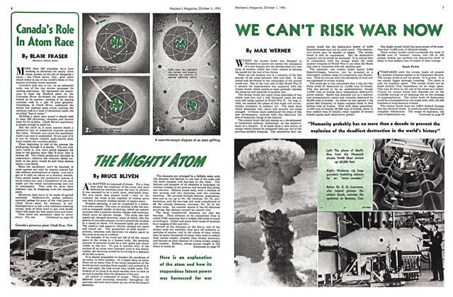 Article Preview: WE CAN'T RISK WAR NOW, October 1945 | Maclean's