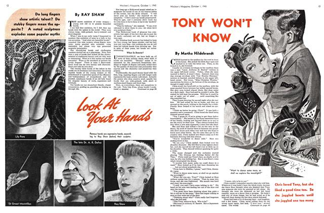 Article Preview: TONY WON'T KNOW, October 1945 | Maclean's
