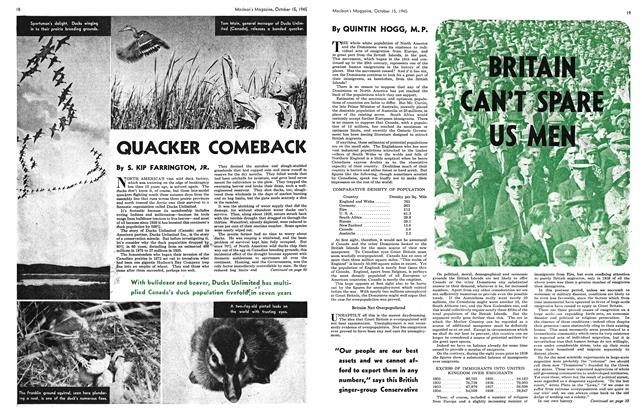 Article Preview: BRITAIN CAN'T SPARE US MEN, October 1945   Maclean's