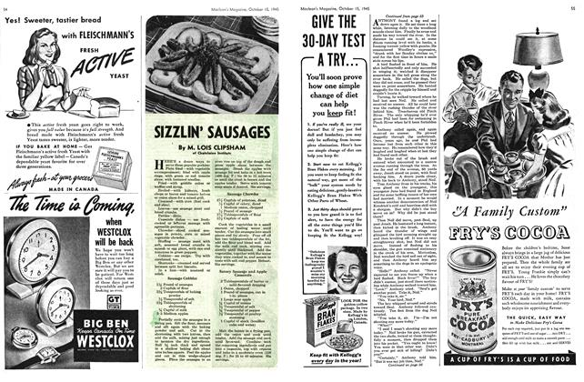 Article Preview: SIZZLIN' SAUSAGES, October 1945 | Maclean's