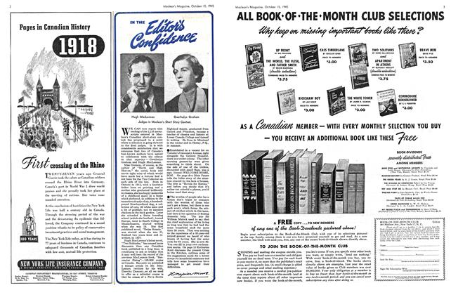 Article Preview: IN THE Editor's Confidence, October 1945 | Maclean's