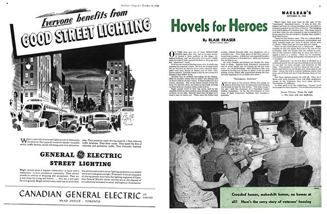 Article Preview: Hovels for Heroes, October 1945 | Maclean's