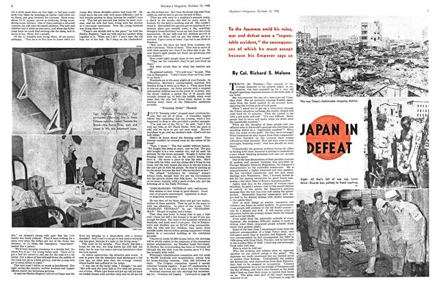 Article Preview: JAPAN IN DEFEAT, October 1945 | Maclean's