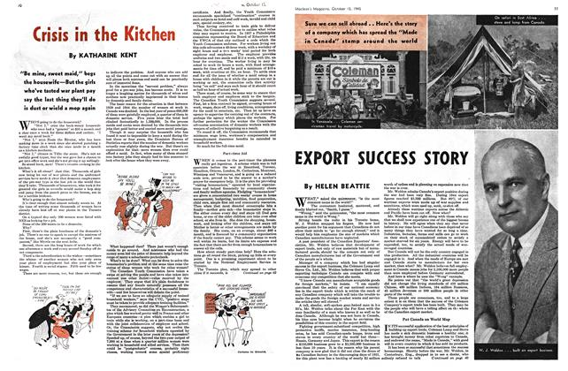 Article Preview: Crisis in the Kitchen, October 1945 | Maclean's