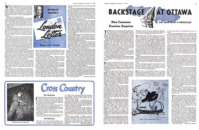 Article Preview: BACKSTAGE AT OTTAWA, October 1945 | Maclean's