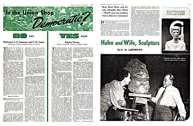 Article Preview: Hahn and Wife, Sculptors, November 1945 | Maclean's