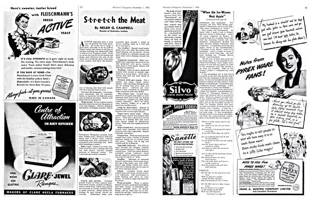 Article Preview: S-t-r-e-t-c-h the Meat, November 1945 | Maclean's