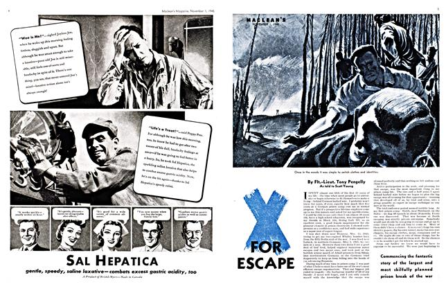 Article Preview: FOR ESCAPE, November 1945 | Maclean's