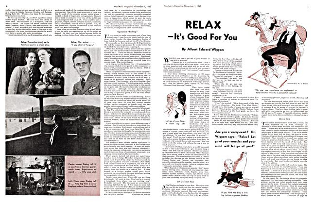 Article Preview: RELAX —It's Good For You, November 1945 | Maclean's