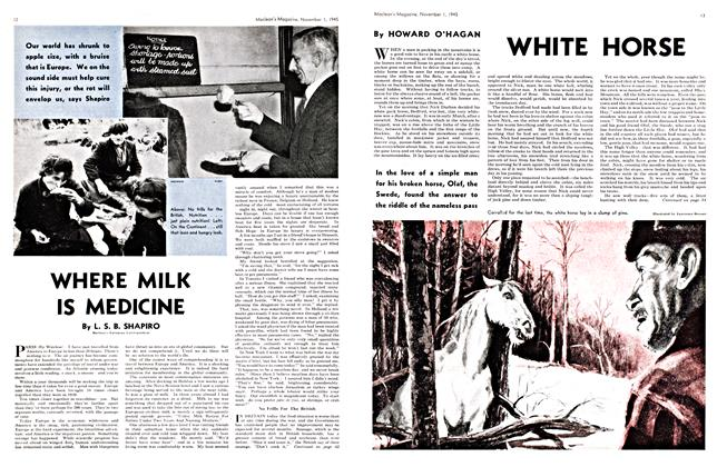 Article Preview: WHERE MILK IS MEDICINE, November 1945 | Maclean's