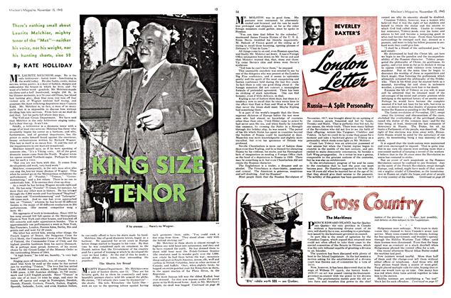 Article Preview: KING SIZE TENOR, November 1945 | Maclean's
