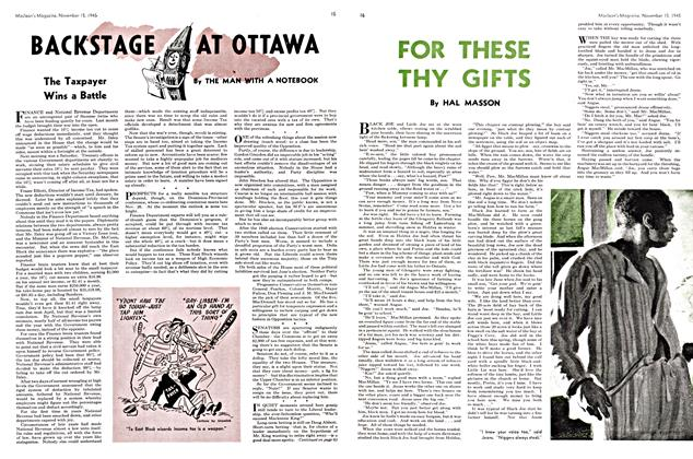 Article Preview: FOR THESE THY GIFTS, November 1945 | Maclean's
