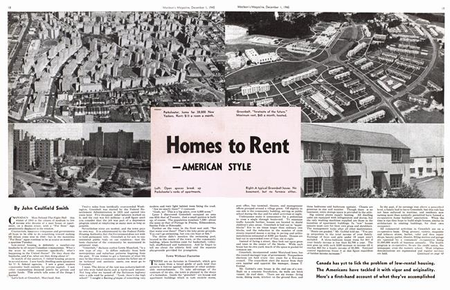 Article Preview: Homes to Rent -AMERICAN STYLE, December 1945 | Maclean's