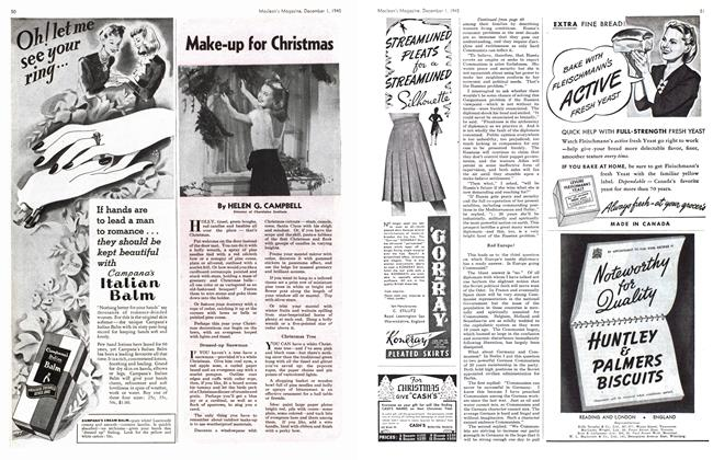 Article Preview: Make-up for Christmas, December 1945 | Maclean's