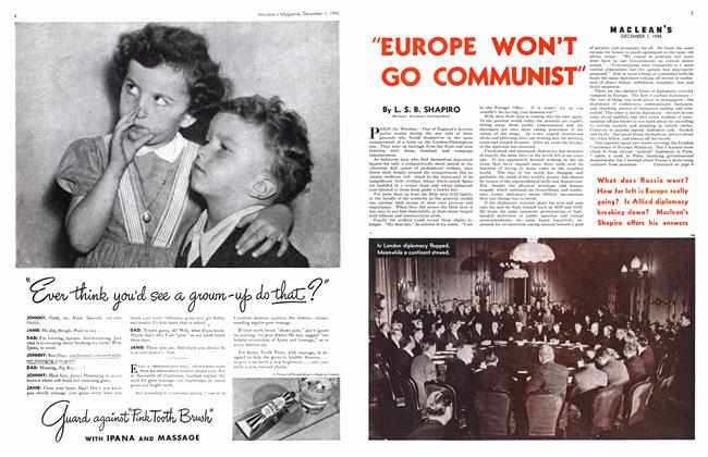 """Article Preview: """"EUROPE WON'T GO COMMUNIST"""", December 1945 