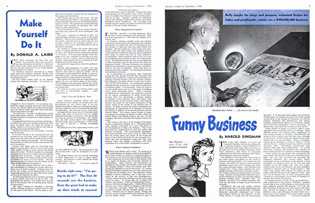Article Preview: Funny Business, December 1945 | Maclean's