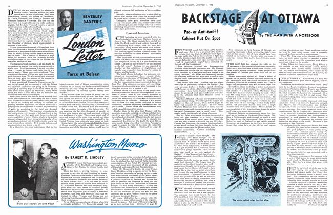 Article Preview: Washington Memo, December 1945 | Maclean's